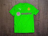 Клубная футболка Боруссия, Borussia, салатовая, ф3553
