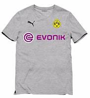 Клубная футболка Боруссия, Borussia, серая, ф3555