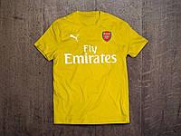 Клубная футболка Арсенал, Arsenal, желтая, ф3556