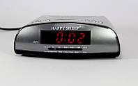 Электронные настольные часы с радио Happy Sheep KK 9905, часы с цифровым дисплеем AM-FM