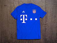 Клубная футболка Бавария, Bayern, синяя, ф3559