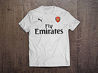 Клубная футболка Арсенал, Arsenal, белая, ф3558
