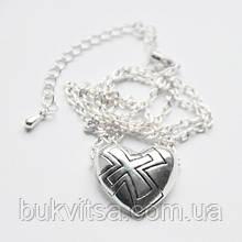 Кулон. Сердце с крестом.