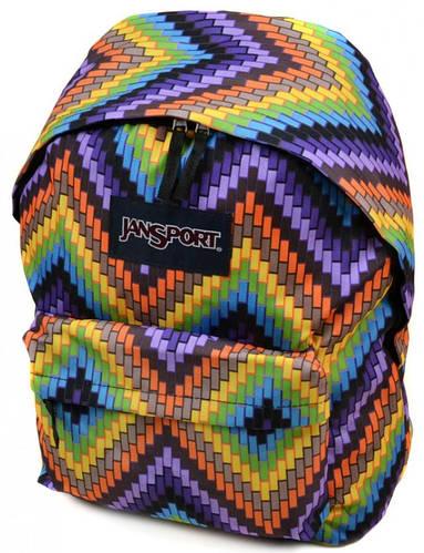 Стильный городской рюкзак нейлон Jansport  3334-9059-2 3d, 28 л, цветной