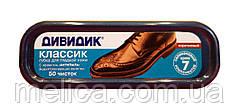Губка Дивидик Классик для гладкой кожи коричневая - 1 шт.