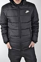 Куртка, ветровка, мастерка демисезонная, черная осень-зима-весна Nike, Найк, ф3645