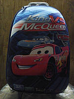Детский дорожный чемодан на колесах Тачки Маквин