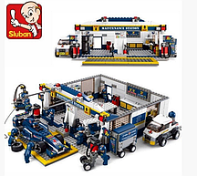"Конструктор SLUBAN ""Формула 1"" - ""Гараж"" 741 деталь арт. M38-B0356"