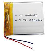 Аккумулятор литий-полимерный (литий-ионный) 044045P(404045) 3.7V 680mAh