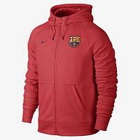 Спортивная (кофта) Nike-Barselona, Барселона, Найк, с капюшоном, красная, ф565