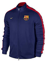 Спортивная толстовка (кофта) Nike-Barselona, Барселона, Найк, синяя, ф564