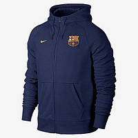 Спортивная толстовка (кофта) Nike-Barselona, Барселона, Найк, с капюшоном, синяя, ф566