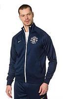 Спортивная олимпийка (кофта) Nike-MU, Манчестер Юнайтед, Найк, синяя, ф570