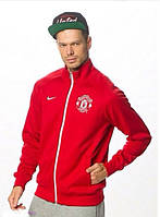 Спортивная олимпийка (кофта) Nike-MU, Манчестер Юнайтед, Найк, красная, ф571