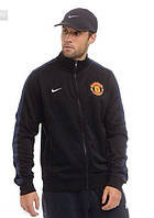 Спортивная олимпийка (кофта) Nike-MU, Манчестер Юнайтед, Найк, черная, ф574