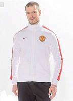 Спортивная олимпийка (кофта) Nike-MU, Манчестер Юнайтед, Найк, белая, ф575
