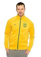 Спортивная олимпийка (кофта) Nike-Бразилия, Бразилия, Найк, желтая, ф595