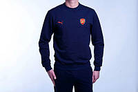 Спортивный костюм Puma-Arsenal, Арсенал, Пума, темно-синий, ф788