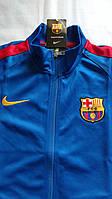 Спортивная олимпийка (кофта) Nike-Barselona, Барселона, Найк, синяя, ф3655