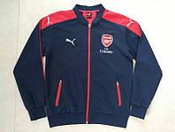 Спортивная олимпийка (кофта) Arsenal-Puma, Арсенал, Пума, синяя, ф3659
