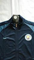 Спортивная олимпийка (кофта) Манчестер сити-Найк, Manchester city, Nike, синяя, ф3669