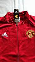 Спортивная олимпийка (кофта) Манчестер Юнайтед-Адидас,  Manchester United, Adidas, красная, ф3673