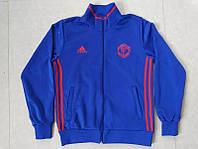 Спортивная олимпийка (кофта) Манчестер Юнайтед-Адидас,  Manchester United, Adidas, синяя, ф3674
