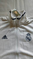 Спортивная олимпийка (кофта) Реал Мадрид-Адидас,  Real Madrid, Adidas, белая, ф3684