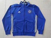 Спортивная олимпийка (кофта) Челси-Адидас, Chelsea, Adidas, синяя, ф3687