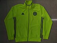 Спортивная олимпийка (кофта) Челси-Адидас, Chelsea, Adidas, салатовая, ф3688