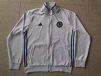 Спортивная олимпийка (кофта) Челси-Адидас, Chelsea-Adidas, белая, ф3689
