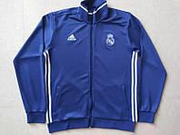 Спортивная олимпийка (кофта) Реал Мадрид-Адидас,  Real Madrid, Adidas, синяя, ф3685