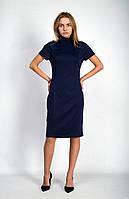 Классическое миди-платье с воротничком