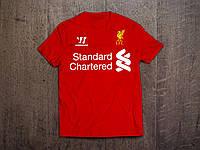 Клубная футболка Ливерпуль, красная,хлопок, спортивная, повседневная, Х19