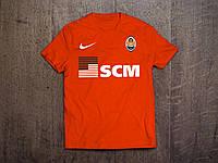 Клубная футболка Шахтер, красная,  хлопок, стильная, спортивная, в наличии, Х40