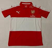 Поло Арсенал, футболка, красно-белая, спортивная, с воротником, Х46