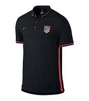Поло Атлетико Мадрид, черная, с воротником, Х47