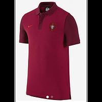 Поло сборной Португалия, красная,с воротником, Х65