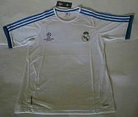 Поло Реал Мадрид, белая, лого вышито, Х71