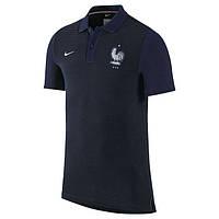 Поло сборной Франции, черная, лого вышито, Х82