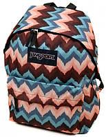 Стильный городской рюкзак нейлон Jansport 3334-9062-1 3d, 28 л, цветной