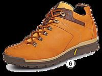 Мужские ботинки зимние МИДА 14958 рыжие из натуральной кожи