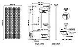 Сонячна батарея (панель) 200Вт, 24В, монокристаллическая PLM-200M-72, фото 3