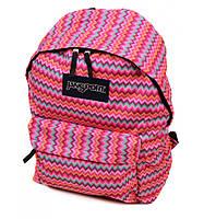 Модный городской рюкзак нейлон Jansport 3334-9103-1 3d, 28 л, розовый