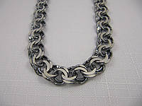 Черненая серебряная цепочка ГАРИБАЛЬДИ (60-93 грамма)
