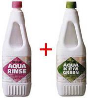 "Жидкость для биотуалетов ""Aqua Rinze"" + ""Aqua Kem Green"""