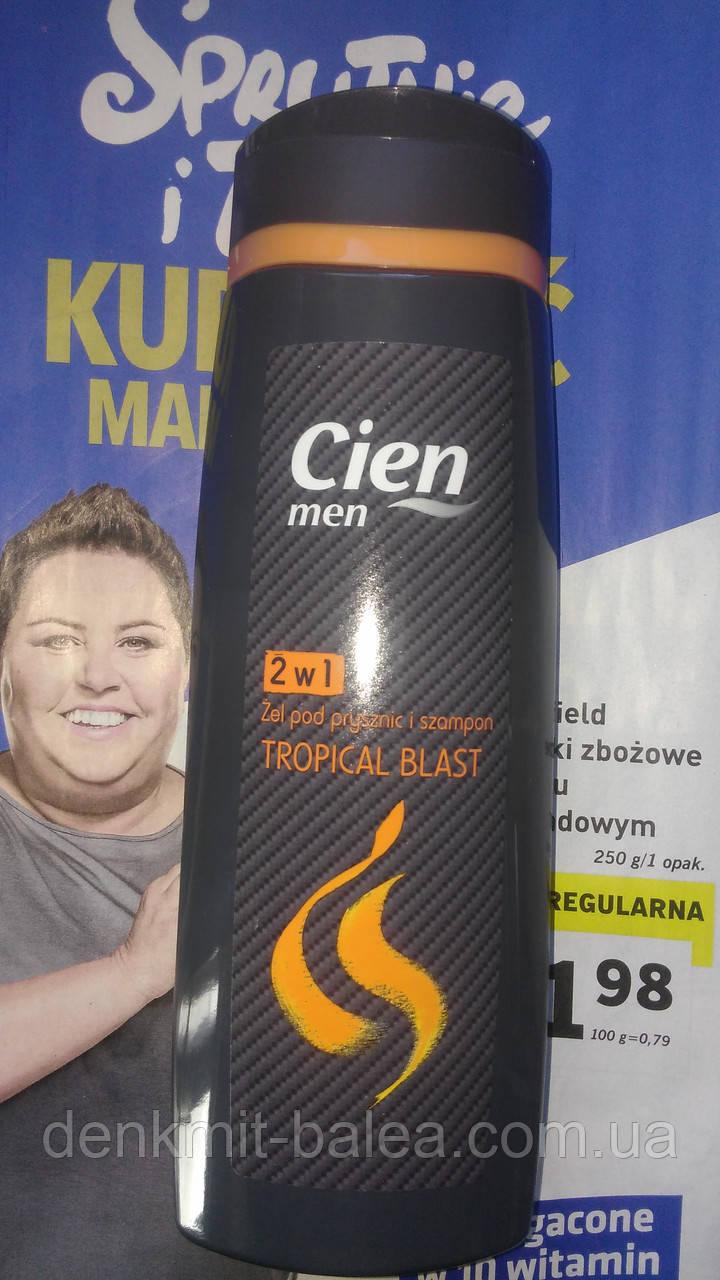 Мужской гель для душа Тропики  Cien Tropical Blast  300 мл