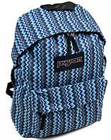 Модный городской рюкзак нейлон Jansport 3334-9103-4 3d, 28 л, голубой