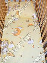 """Детское постельное белье в кроватку """"Карапуз"""" комплект 6 ед. (мишки на лесенке бежевый), фото 3"""