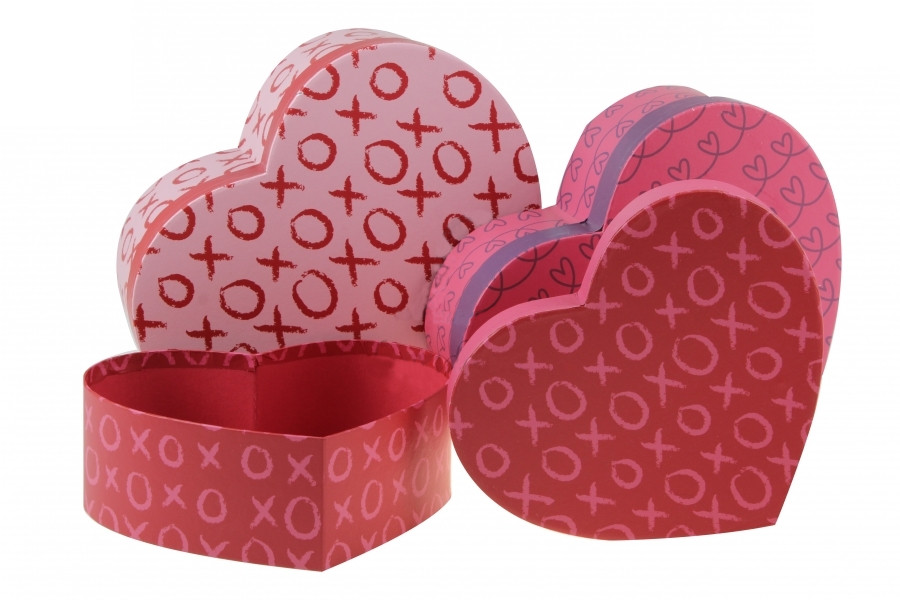 Подарочная коробка в форме сердца ХО